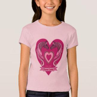 T-shirt Chemise de filles de coeur d'amants de cheval