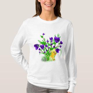 T-shirt Chemise de floraison de poussin de Pâques de