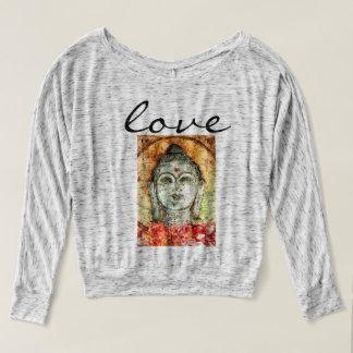 T-shirt Chemise de Flowy d'art d'aquarelle de Bouddha