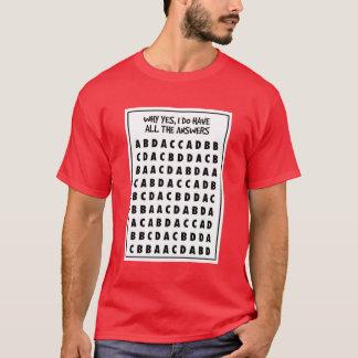 T-shirt Chemise de fraude de choix multiple