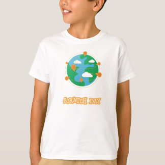T-shirt Chemise de globe de jour d'éraflure (enfants)