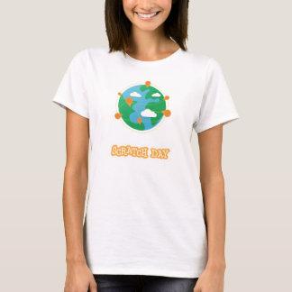 T-shirt Chemise de globe de jour d'éraflure (femmes)