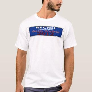 T-shirt Chemise de Gov. Scott Walker de rappel