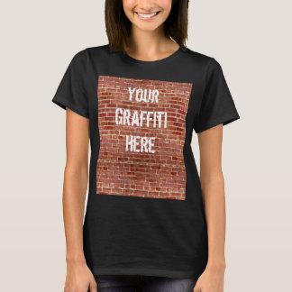 T-shirt Chemise de graffiti personnalisée par mur de