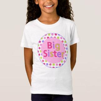 T-Shirt Chemise de grande soeur de point de polka