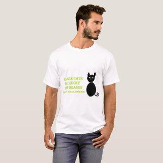 T-shirt Chemise de Halloween de chat noir