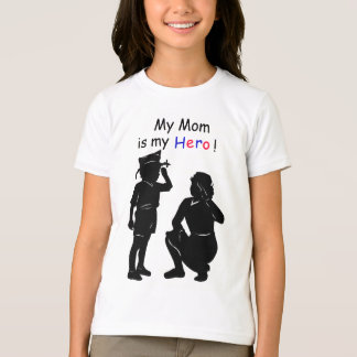 T-shirt Chemise de héros de maman de vétéran