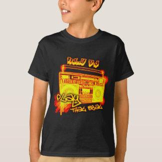 T-shirt chemise de HIP HOP de garçons