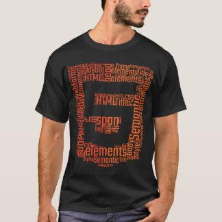 T-shirt Chemise de HTML 5 Wordcloud pour des programmeurs