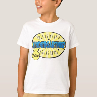 T-shirt Chemise   de jardin d'enfants bleu et jaune