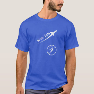 T-shirt Chemise de jets bleus