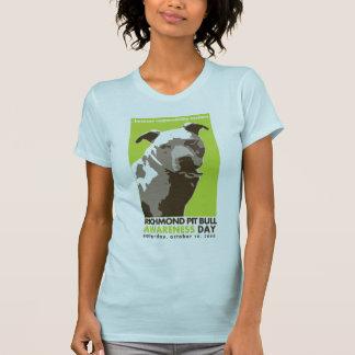 T-shirt chemise de jour de conscience de pitbull