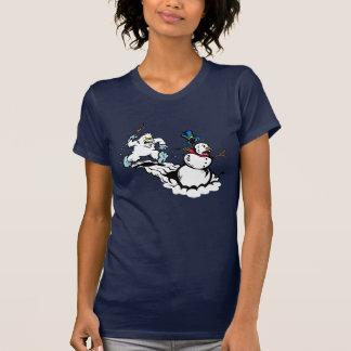 T-shirt Chemise de la marine des femmes de chasse de
