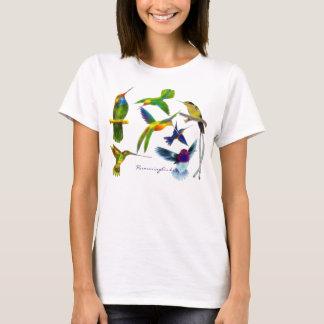 T-shirt Chemise de la mode des femmes de colibris