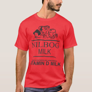 T-shirt Chemise de lait de NILBOG (édition rouge spéciale