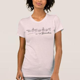 T-shirt Chemise de langue des signes de grand-maman