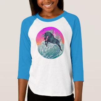 T-shirt Chemise de licorne de la jeunesse de la fille
