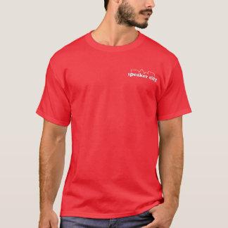 T-shirt Chemise de logo de poche de ville de haut-parleur