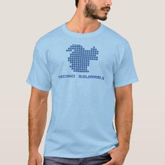 T-shirt Chemise de logo d'écureuils de techno (types)