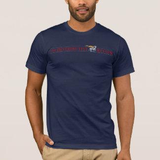 T-shirt Chemise de logo d'examen de Distributist de marine