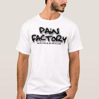 T-shirt Chemise de logo d'usine de douleur