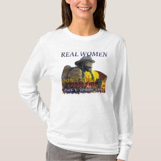 T-shirt Chemise de Longsleeve de sapeur-pompier de femmes