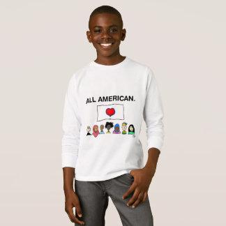 T-shirt Chemise de Longsleeve de tout l'enfant américain