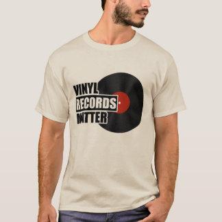 T-shirt Chemise de matière de disques vinyle