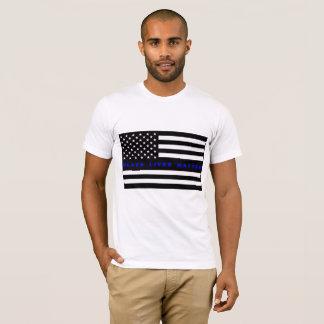 T-shirt Chemise de matière des vies de noir de drapeau