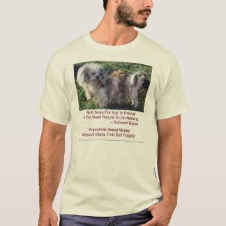 T-shirt Chemise de misère de race de moulins de chiot