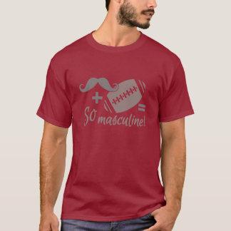T-shirt Chemise de moustache et de football - choisissez