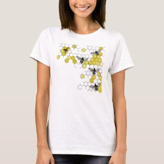 T-shirt Chemise de nid d'abeilles d'abeille de miel