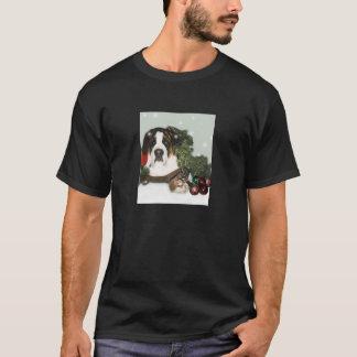 T-shirt Chemise de Noël de St Bernard