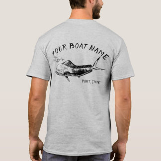 T-shirt Chemise de nom de bateau de Mahi