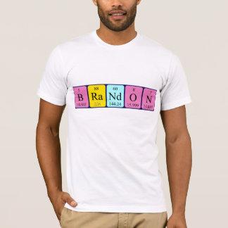 T-shirt Chemise de nom de table périodique de Brandon