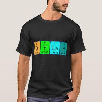 T-shirt Chemise de nom de table périodique de Dylan