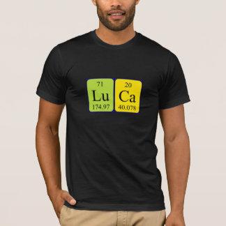 T-shirt Chemise de nom de table périodique de Luca