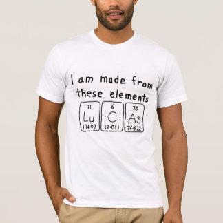 T-shirt Chemise de nom de table périodique de Lucas