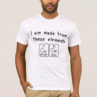 T-shirt Chemise de nom de table périodique de mesure