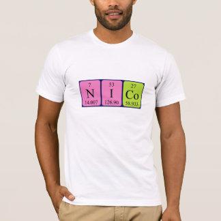 T-shirt Chemise de nom de table périodique de Nico