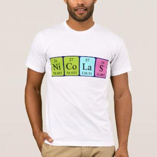 T-shirt Chemise de nom de table périodique de Nicolas