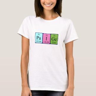 T-shirt Chemise de nom de table périodique de Paige