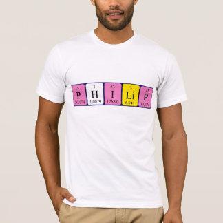 T-shirt Chemise de nom de table périodique de Philip