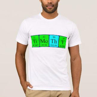 T-shirt Chemise de nom de table périodique de Timothy