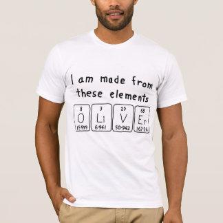 T-shirt Chemise de nom de table périodique d'Oliver