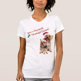 T-shirt Chemise de nuit de Noël de Terrier soyeux