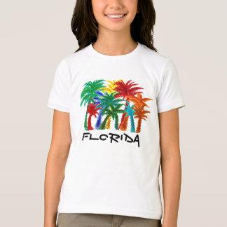T-shirt Chemise de palmier de filles de la Floride