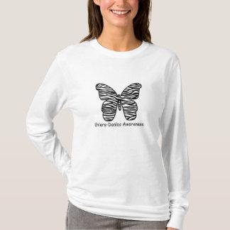 T-shirt Chemise de papillon de zèbre de conscience