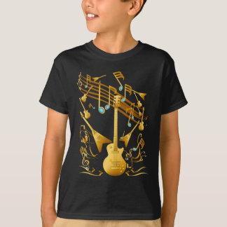 T-shirt Chemise de partie de guitare d'or