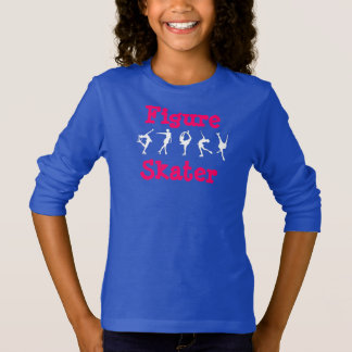 T-shirt Chemise de patineur artistique de filles avec des